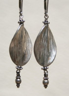 Imprinted Thai twisted leaf earrings