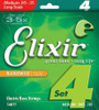 Elixir Nanoweb Bass Guitar Strings - Medium