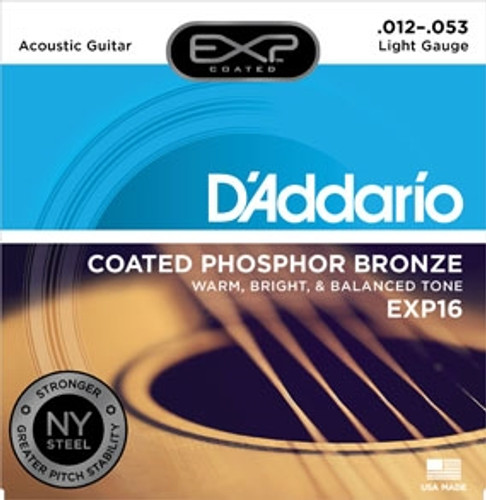 D'Addario EXP Coated Acoustic Guitar Strings - Light