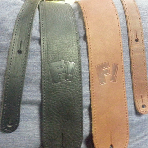 Fretworks! Leather Guitar Strap Brown