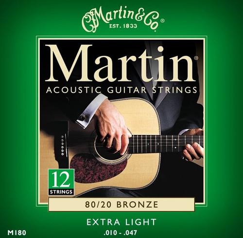 Martin 80/20 Bronze Acoustic Guitar Strings - Extra Light 12-String