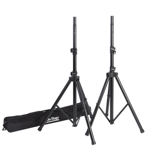 On-Stage Stands Reversible Shaft Speaker Stands with Bag - Pair