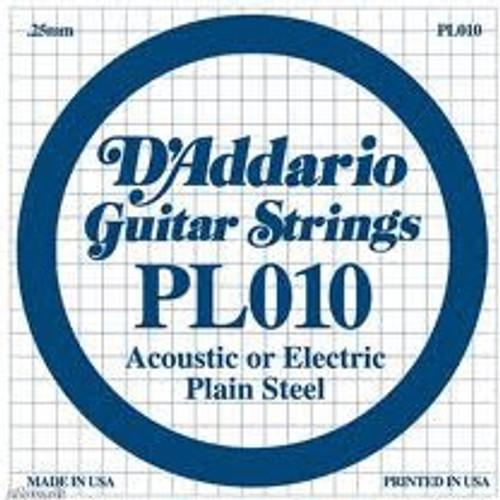 D'Addario Plain Steel Single String