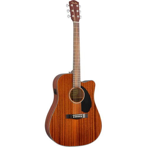 Fender CD-60SCE Dreadnought Solid-Top Acoustic/Electric Guitar - Mahogany