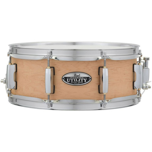 "Pearl MUS1350M 13"" x 5"" Modern Utility 6-Ply Maple Snare Drum - Matte Natural"