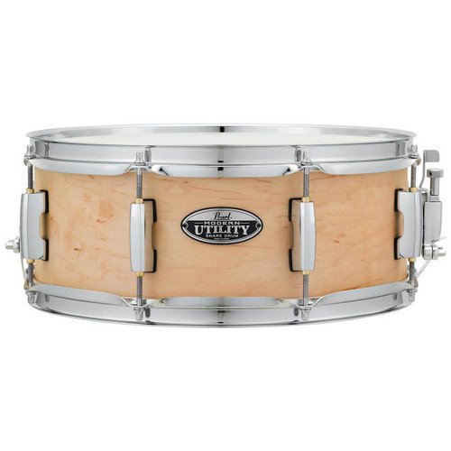 """Pearl MUS1455M 14"""" x 5.5"""" Modern Utility 6-Ply Maple Snare Drum - Matte Natural"""