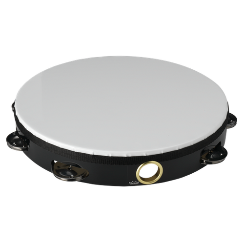 "Remo 10"" Single Row Tambourine with Head"