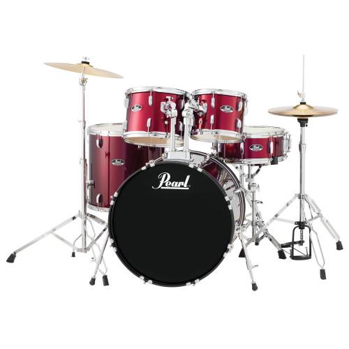 Pearl Roadshow RS525SC/C 5-Piece Drum Set - Wine Red