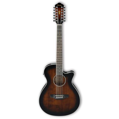 Ibanez AEG1812II 12-String Acoustic/Electric - Dark Violin Sunburst
