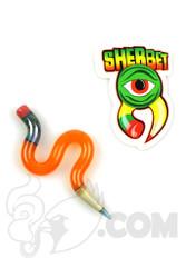 Sherbet Glass - Wavy Orange Glass Pencil Dabber