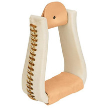 Rawhide Leather Covered Stirrups, Roper
