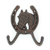 Cast Iron Horse Head Double Hook