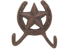 Cast Iron Star Double Hook