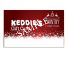 Keddie's Gift Card - Christmas Design (Sample Front)