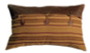 Autumn Leaf Fabric and Leather Envelope Sham – Pillow NOT Included
