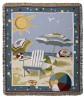 Beach Days Tapestry Throw