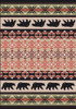 "Cozy Bears/Burnt Red 3x4 Rug by American Dakota (2'8"" x 3'11"")"