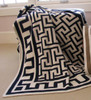Key Navy Natural Knitted Cotton Throw Blanket