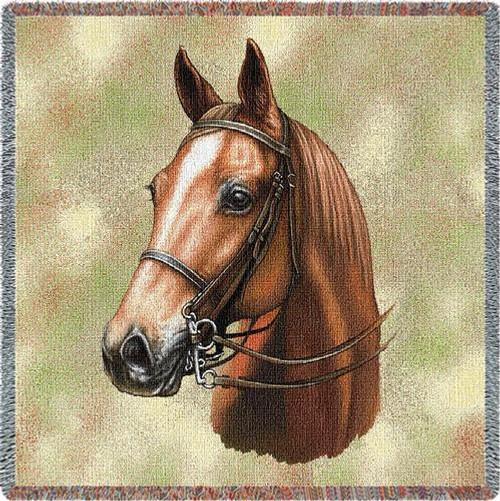 American Saddlebred Horse Lap Square Throw