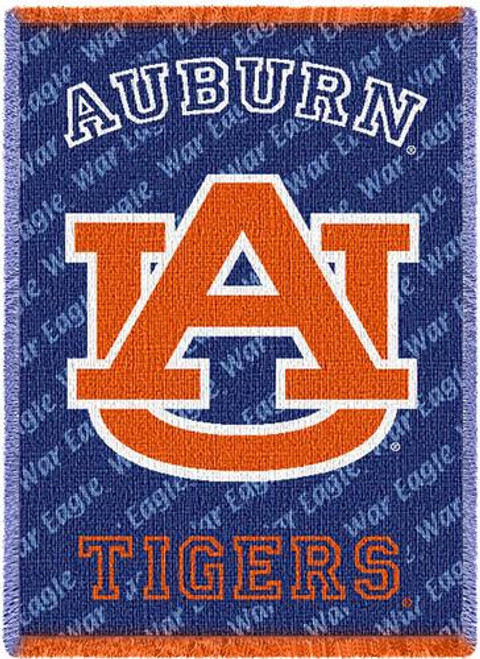 Auburn University Logo Small Stadium Throw Blanket (48x69 Inches)