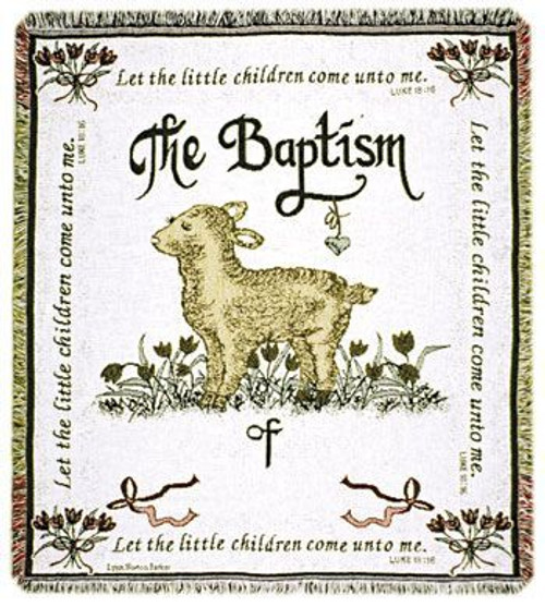 Baptism Two Layer Woven Throw