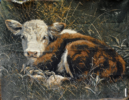 Bedded Down Cow Tapestry Throw CM1067