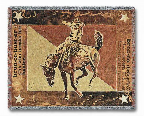 Bust Over The Moon Cowboy Tapestry Throw PC3883-T