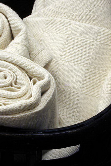 Natural Cotton Checkerboard Queen Bed Blanket BM052