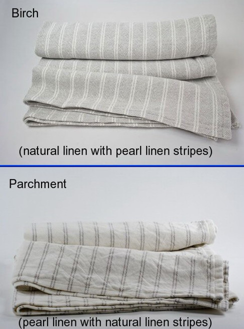 Pinstripe 50% Cotton 50% Linen Blanket Full
