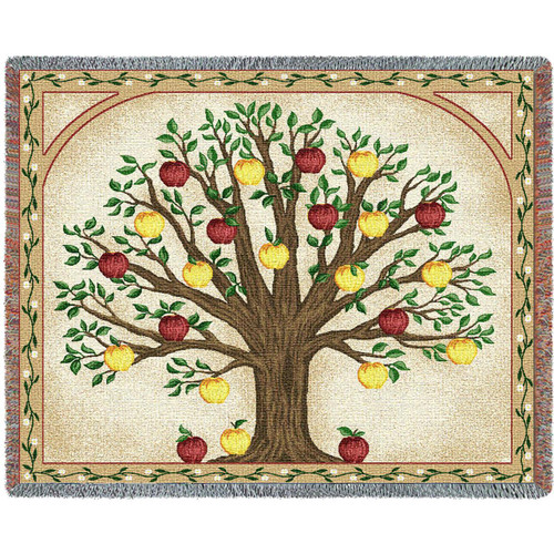 Apples Family Tree Tapestry Throw