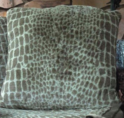 Journey Alligator Print Faux Fur Oversize Pillow