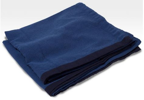 Brahms Mount Merino Lambswool Broadcloth Blanket Navy