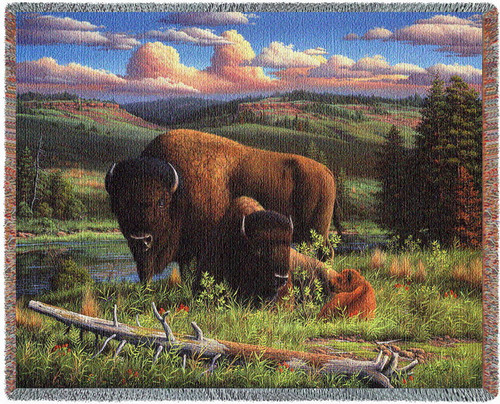 Buffalo Nation Tapestry Throw Blanket