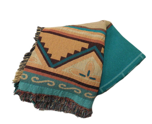 Pueblo Sunset Tapestry Throw