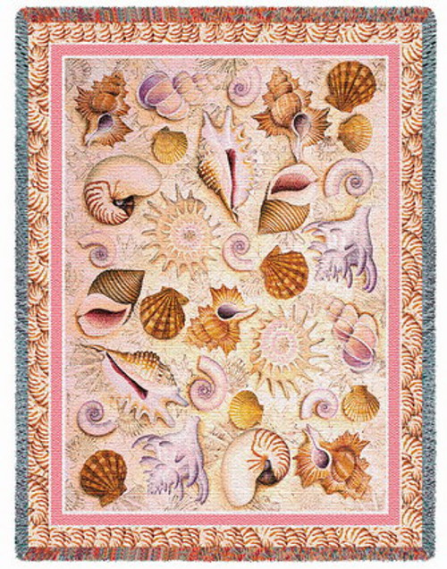 Seashells Tapestry Afghan or Throw PC1821-T