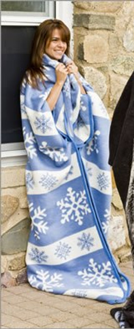 Snowflakes Warm Me Up Blanket Wrap