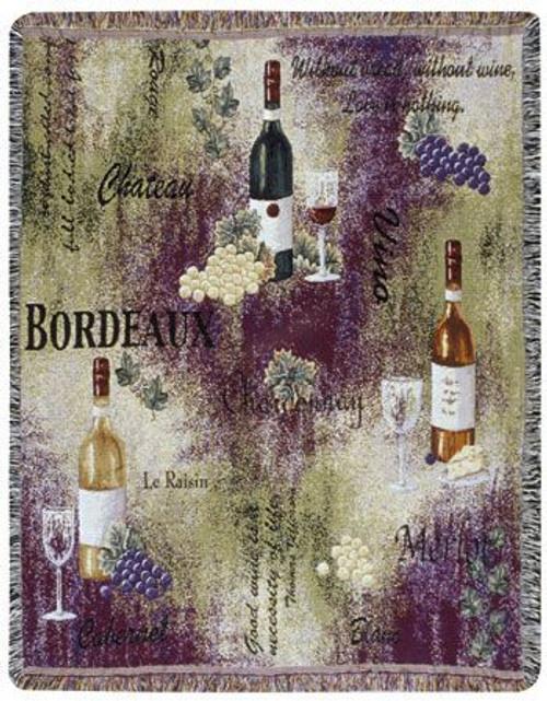 Tasting Room Wine Tapestry Throw WT-TPM495