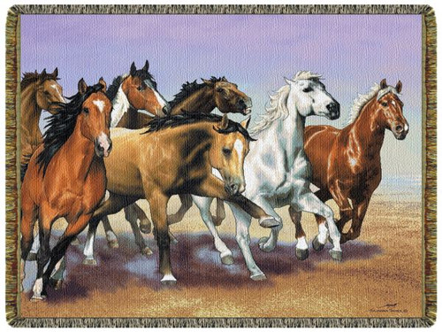The Run Horse Tapestry Throw L10115
