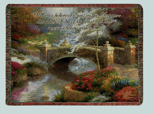 Thomas Kinkade Bridge of Hope Throw