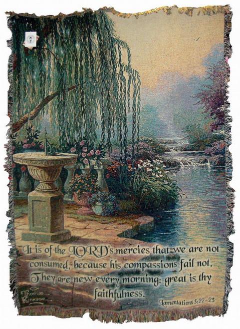 Thomas Kinkade Hour of Prayer Tapestry Throw