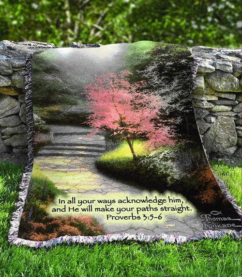 OUT OF STOCK Thomas Kinkade Afternoon Dogwood Throw