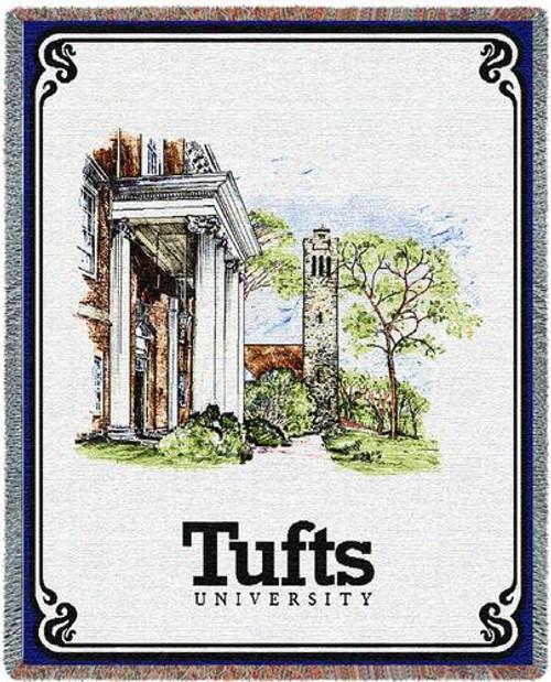 MASSACHUSETTS Tufts University Collage Tapestry Throw