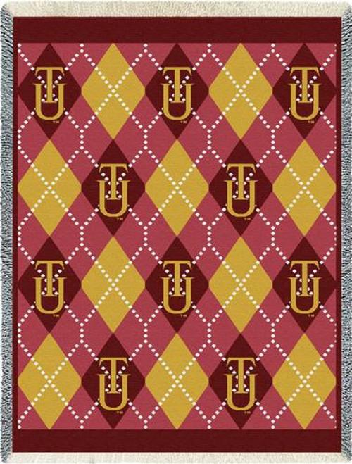 ALABAMA Tuskegee University Plaid Tapestry Throw