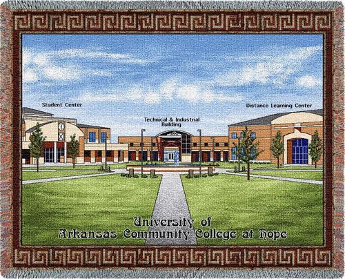ARKANSAS University of Arkansas Community College at Hope Tapestry Throw