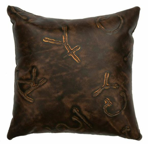 Wooded River cattle Brands design Square Pillow