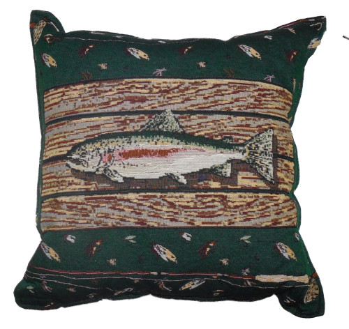 Gone Fishin' Tapestry Pillow PTP290