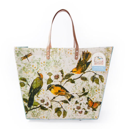 Sanctuary Birds large Jute Tote Bag