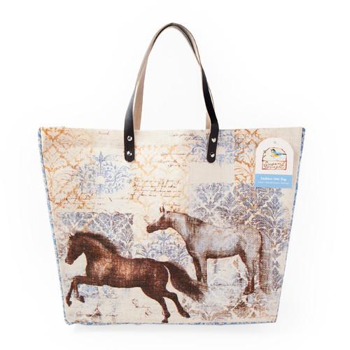 Enchanted Equine Horse Jute Tote Bag