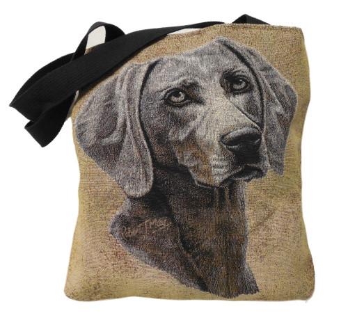 Weimaraner Dog Cotton Tapestry Tote Bag