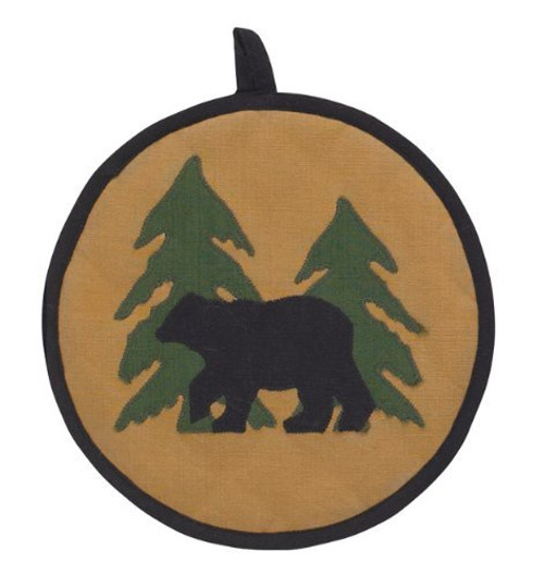 Bear Tracks Potholder by Park Designs (8x8 Inches)